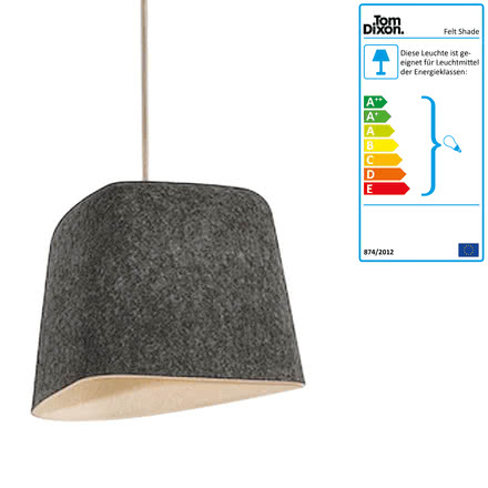 Suspension lumineuse felt shade de tom dixon for Suspension lumineuse