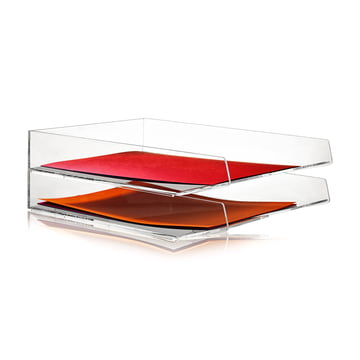 Nomess - Bannettes Clear Paper Tray A4, duo empilé