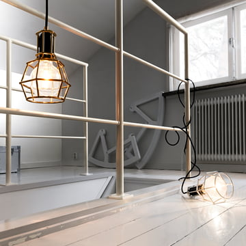 Design House Stockholm - Work Lamp, or, argent